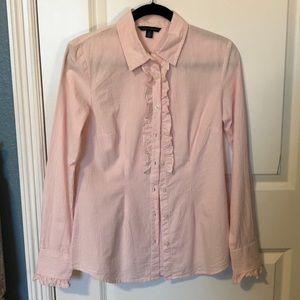 Tommy Hilfiger Striped Ruffle Shirt